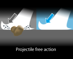 Projectil free action