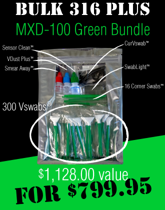 For professional camera sensor cleaning. Bulk 316 Plus MXD-100 Green Bundle.