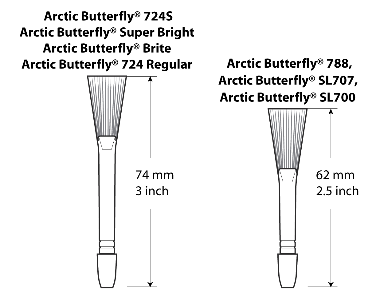 Arctic Butterfly Head Replacement Chart