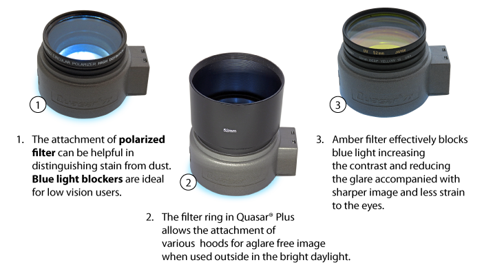 Filters and tubes usage with Quasar Plus