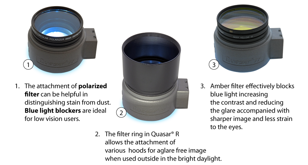 Filters and tubes usage with Quasar R